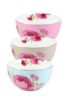 Toon details van Floral kom S khaki