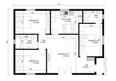 Casa frumoasa si spatioasa de 35.000 de euro Barn Style House Plans, Small House Plans, Floor Plan Drawing, Outdoor Bathrooms, Beach Cottage Style, Euro, Tiny Living, Future House, Building A House