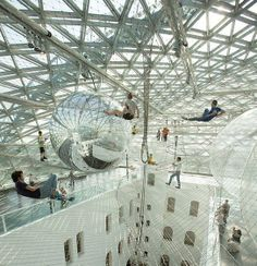 "Tomás Saraceno: ""In orbit"" I really want to  go to an installation art piece  like this amazing interactive work that's up in the air"