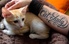 Amazing cat, cat lady tattoo! Why didn't I think of this?