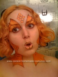 Love this makeup! I will do more colorful for the costume but great idea!