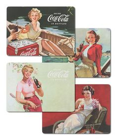 Another great find on #zulily! Coca-Cola Bathing Beauties Place Mat - Set of Four by Coca-Cola  #zulilyfinds