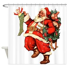 Download HD Wallpapers Santa Suit Shower Curtain