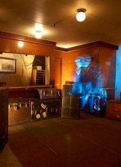 The ghost legends tour on the haunted Queen Mary ship in Long Beach California