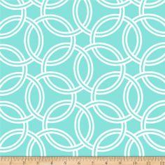 $14.98.   Cotton. Sateen Michael Miller Bekko Home Decor Swirl Aqua - Discount Designer Fabric - Fabric.com
