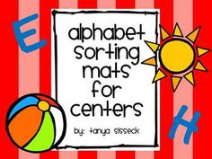 This product is a set of sorting mats and alphabet cards. This activity will is great practice for letter sounds and letter identification of upper and lower case for younger elementary students.