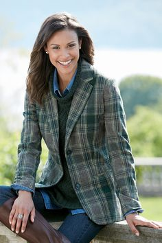 """""""Shop Chadwicks of Boston for our Fully Lined Wool Blazer. Browse our online catalog for more classic clothing, shoes & accessories to finish your look. Preppy Look, Boho Look, Business Casual Outfits, Business Attire, Fall Winter Outfits, Autumn Winter Fashion, Autumn Style, Wool Shop, Preppy Dresses"""