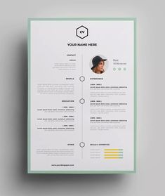 If you like this design. Check others on my CV template board :) Thanks for sharing! Resume Design Template, Cv Template, Design Templates, Templates Free, Resume Templates, Graphic Design Cv, Web Design, Interior Design Resume, Cv Web