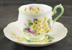 Royal Albert Fine Bone China Cup and Saucer PRIMULETTE Pattern by…