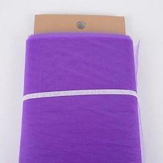 Purple 54 Inch Tulle Fabric Bolt x 40 Yards