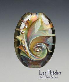 Glass bead made by Lisa Fletcher.: