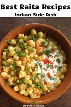 Get here recipes of 9 best and most popular raita recipes for everyday menu. This is best Indian side dish that completes our menu. See best North Indian style raita recipes here. Curry Side Dishes, Indian Side Dishes, Veg Dishes, Healthy Dishes, Raitha Recipes, Curry Recipes, Indian Food Recipes, Vegetarian Recipes, Cooking Recipes