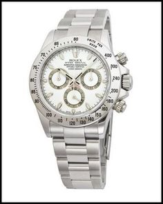 Rolex Daytona White Index Dial Oyster Bracelet Men's Watch 116520WSO