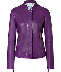 so hard to find a nice purple leather jacket Purple Leather Jacket, Purple Coat, Purple Jacket, Purple Dress, Purple Purse, Dressy Jackets, Diy Vetement, Purple Outfits, Shades Of Purple