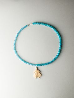Angel Blue Necklace by Carla Szabo Blue Necklace, Air, The Dreamers, Turquoise Bracelet, Jewelry Design, Beaded Bracelets, Angel, Collection, Pearl Bracelets