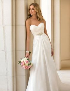 Chiffon Beach Wedding Dress