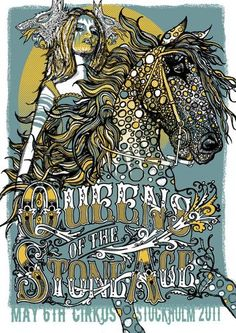 Collab with Dan Johnson for QOTSA yes indeed. NOT MY WORK!  But damn I wish it was, I love this, very inspiring design illustration work