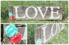 2 Crafty 4 My Skirt: Barn Wood Sign