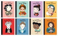 """Colección """"Pequeña & Grande"""" (Editorial Alba) #MujeresDeLaHistoria Elementary Spanish, Teaching Spanish, Dian Fossey, Ella Fitzgerald, World Quotes, Amelia Earhart, Marie Curie, Agatha Christie, Aesthetic Iphone Wallpaper"""