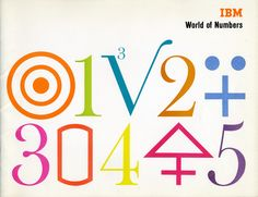 World of Numbers Booklet, 1958