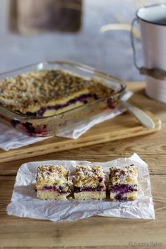 Yummy Blueberry Coconut Pie with Crumble Topping Crumble Topping, No Bake Treats, Baking Recipes, Blueberry, Bakery, Coconut, Pie, Breakfast, Sweet
