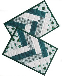 Irish Shamrock Patchwork Mini Quilts Snack by cherishedcabinquilts