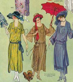 Paris La Miroir Des Modes, August 1922.