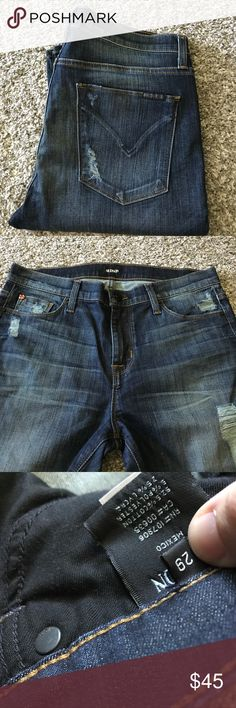 Like new HUDSON jeans 29 Like new worn once sz 29 Hudson jeans with factory distress Hudson Jeans Jeans Skinny
