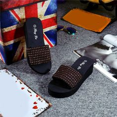 b30118227204a Elevin(TM)Women Summer Indoor Outdoor Open-toe Sandals Slipper Flat Flip- flops Beach Shoes     Learn more by visiting the image link.