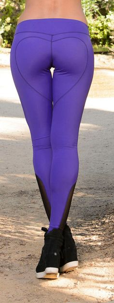 Yoga Leggings  Heart Butt Work Out Legging purple by NinaBRoze, $99.00