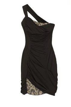 ROBERTO CAVALLI | Black Dress | Simple | Gold