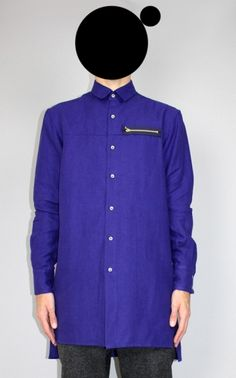 vidur | oversized zipped pocket shirt