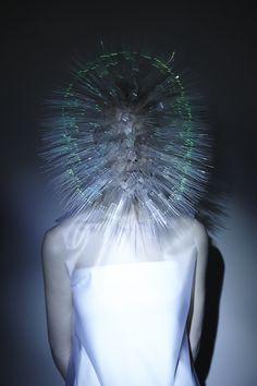 dezeen:  Prickly headdresses by Maiko Takedaglow in the dark