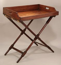 GOOD GEORGE III MAHOGANY BUTLER'S TRAY ON STAND , c1770. -  M. Ford Creech Antiques