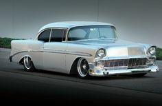 1956 chevy silver   1956 Chevrolet Bel Air Hardtop - Silver Sultan