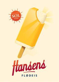 Fantastiske flødeis fra Hansen - Hansens Flødeis