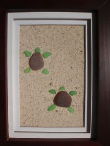 sea glass turtles