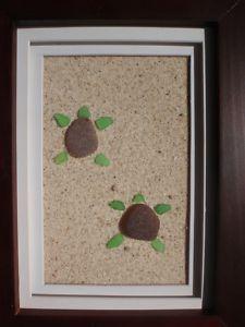 sea glass turtles