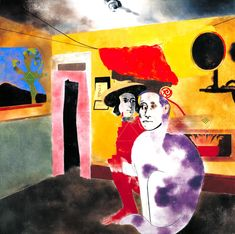 R.B. Kitaj 'The Man of the Woods and the Cat of the Mountains', 1973 © The estate of R. B. Kitaj