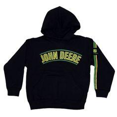 Kid's John Deere Bonded Black Pullover Hoodie - Sweatshirts & Hoodies - Kid's & Baby   RunGreen.com