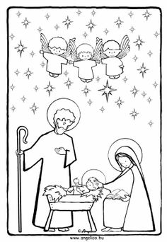 holy family coloring