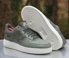 huge discount 53365 0cf83 Nike Air Force 1 07 LV8 River Rock Dark Stucco White 823511-004 Men s Size