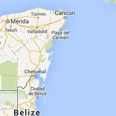 nombre de las principales ciudades mayas - Google Maps