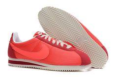 Nike Cortez V1 Lysrød Hvid Dame