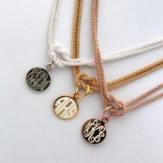 Monogrammed Square Knot Necklace {Sterling Silver, Gold, Rose Gold} #SwellCaroline #Preppy