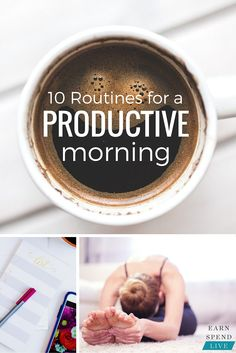 Productive mornings make for happy, productive Be less stressed & ditch the chaos with these 10 simple morning routines. Evening Routine, Night Routine, Morning Habits, Morning Routines, Daily Routines, Productivity Hacks, Morning Ritual, How To Wake Up Early, Morning Motivation