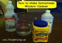 Tired of trying to find a good deal on Windex? Make your own Homemade Window Cleaner. Find out how!