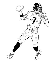 super bowl great run coloring page for kids printables - Super Bowl Trophy Coloring Pages