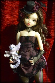 BJDC Convention Doll- Creme skin Raspberry by Asella of Noble Dolls