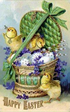 Old easter postcard Easter Art, Easter Crafts, Easter Bunny, Easter Ideas, Vintage Greeting Cards, Vintage Postcards, Easter Pictures, Easter Parade, Easter Printables
